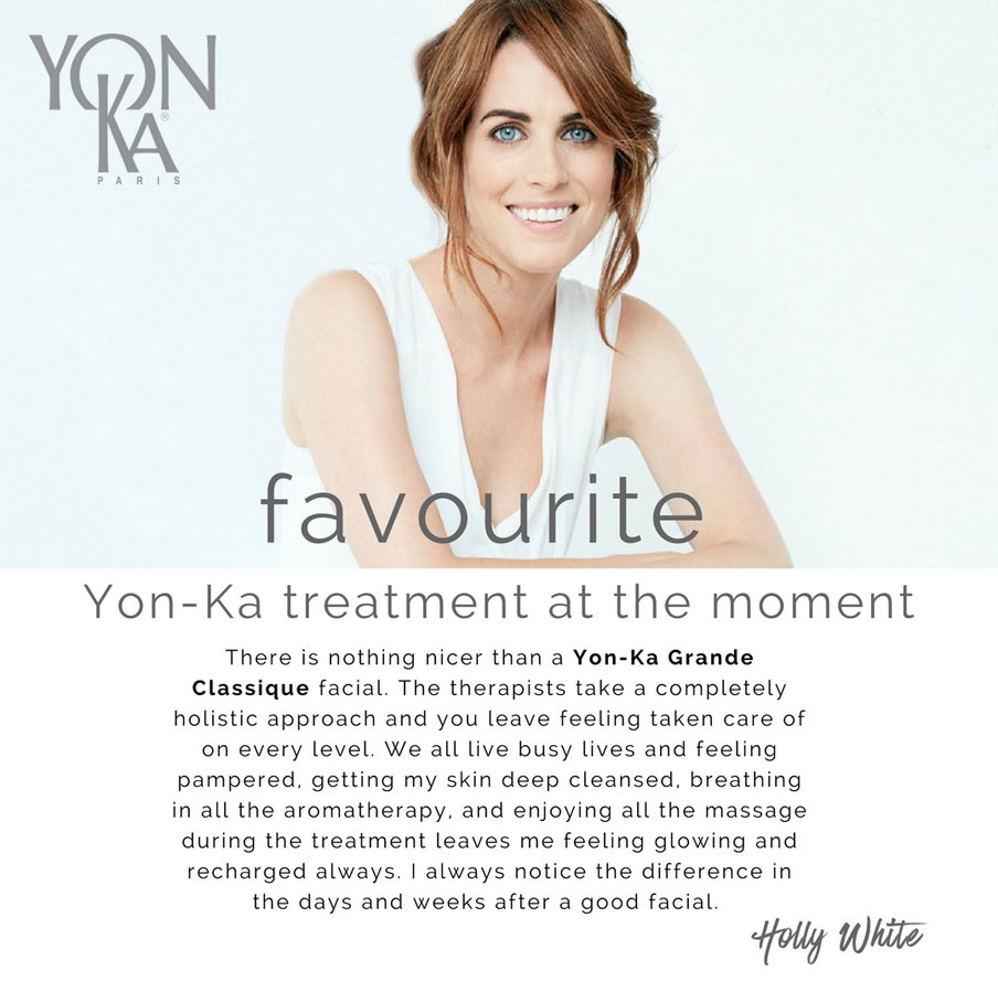 Holly White - Favourite Yon-Ka Treatment